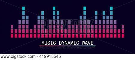 Sound Wave Symbol Of Equaliser. Music Soundwave Design. Vector Illustration.