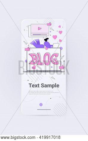 People Watching Online Video Blog Content Marketing Digital Market Promotion Blogging Concept
