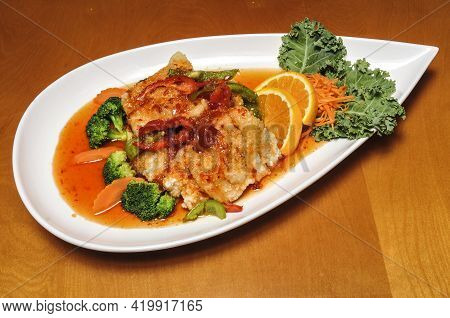 Delicious Traditional Cuisine Known Best As Fried Red Snapper