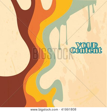 poster of retro abstract strips background - vector illustration