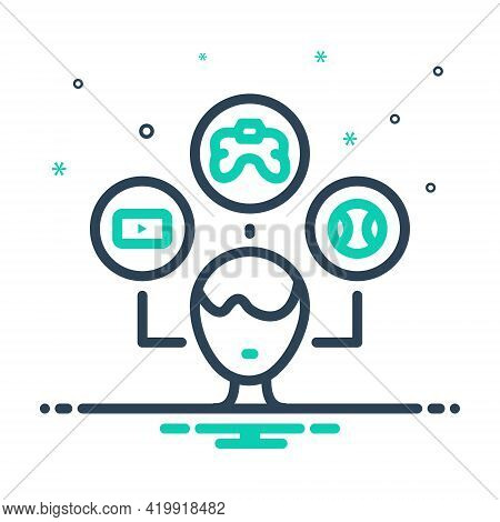 Mix Icon For Interest Hobby Like Choice Favourite Inclination