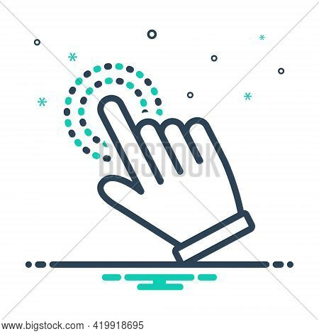 Mix Icon For Hand-cursor Hand Cursor Finger Pointer Touchscreen