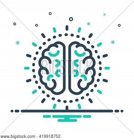 Mix Icon For Mind Nous Sense Brain Neurology Think Idea