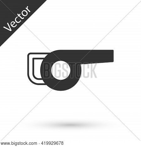 Grey Leaf Garden Blower Icon Isolated On White Background. Vector