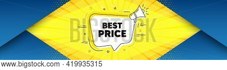 Best Price. Background With Offer Speech Bubble. Special Offer Sale Sign. Advertising Discounts Symb