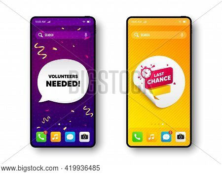 Last Chance Offer Banner. Phone Mockup Vector Confetti Banner. Sale Timer Tag. Countdown Clock Promo
