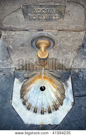 Ancient faucet water tap
