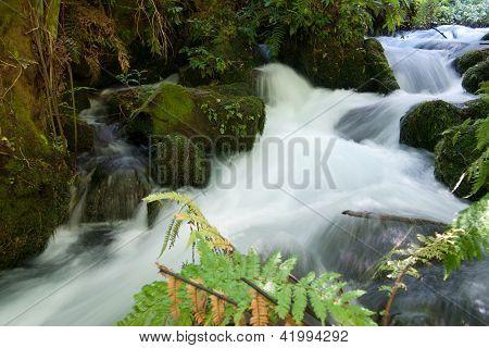 Scenic waterfall.