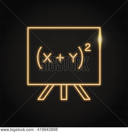 Neon Quadratic Equation Icon In Line Style