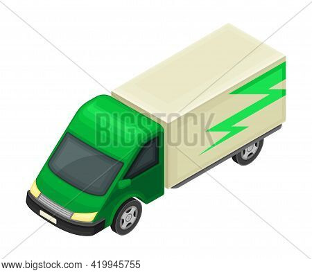 Truck Or Lorry As Motor Vehicle And Urban Transport For Transporting Cargo Isometric Vector Illustra