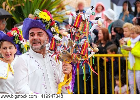 Funchal, Madeira, Portugal - April 22. 2018: Flower Festival In The Capital City Of The Portuguese I