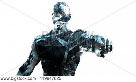 Broken But Defiant Perseverance Determination Artistic Concept 3d Render