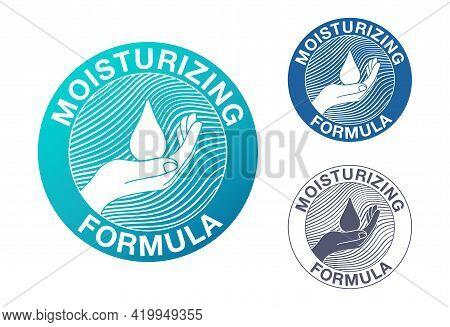 Skin Moisturizing Formula Catchy Emblem - Anti-age And Anti Wrickles Cosmetics Marking - Water Drop,