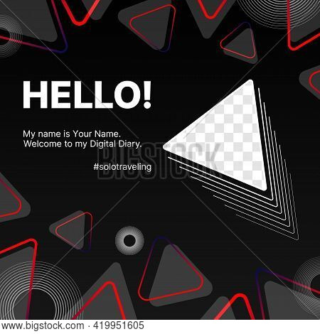 Geometric Modern Tech Digital Banner. Design For Your Solo Traveling Blog. Put Your Content Under Ba