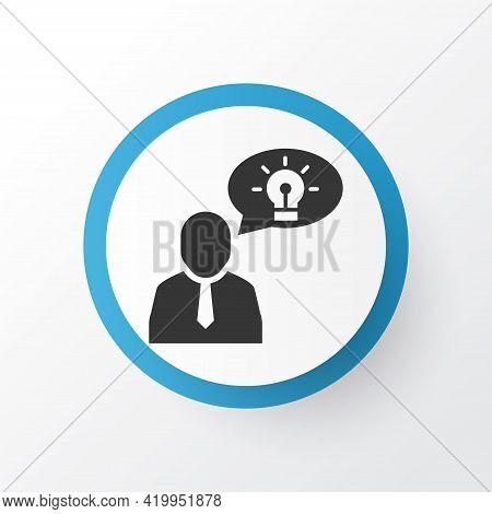 Brilliant Idea Icon Symbol. Premium Quality Isolated Thinking Element In Trendy Style.