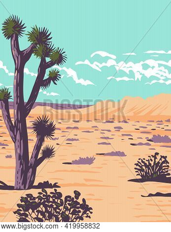 Wpa Poster Art Of The Joshua Tree In Tule Springs Fossil Beds National Monument Near Las Vegas, Clar
