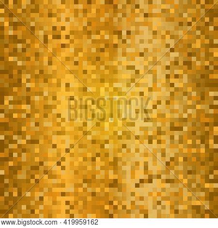 Shining Golden Disco Mosaic Background Gold Glitters Background