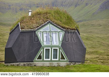 Eco Friendly Picturesque House In Faroe Islands. Sustainable Green Architecture.