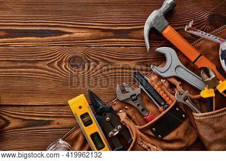 Professional workshop tools, macro view,