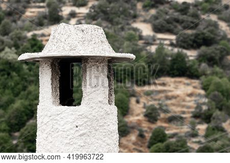 View Of The White Streets Of The Village Of Pampaneira In The Alpujarra Region. Granada, Andalucia,
