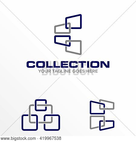 Window Arrangement Logo Design Vector Stock. Can Be Used As A Symbol Relating To Interior.