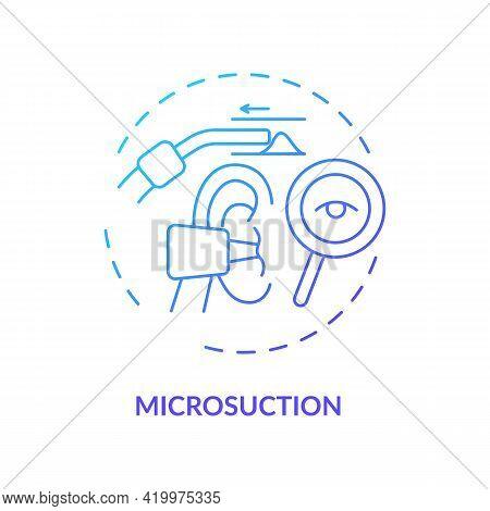 Microsuction Concept Icon. Ear Hygiene Method Idea Thin Line Illustration. Quick And Easy Wax, Debri