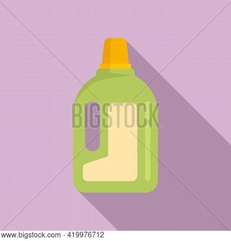 Fertilizer Bottle Icon. Flat Illustration Of Fertilizer Bottle Vector Icon For Web Design
