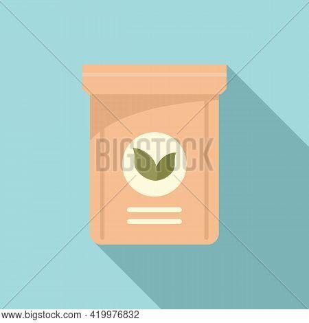 Fertilizer Plant Pack Icon. Flat Illustration Of Fertilizer Plant Pack Vector Icon For Web Design