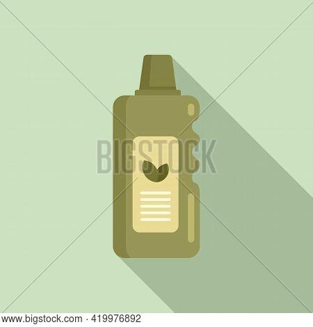 Eco Fertilizer Icon. Flat Illustration Of Eco Fertilizer Vector Icon For Web Design