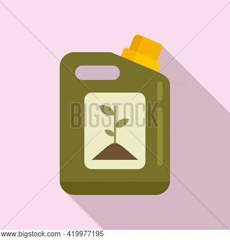 Plant Bio Canister Icon. Flat Illustration Of Plant Bio Canister Vector Icon For Web Design
