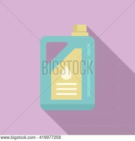 Chemical Fertilizer Canister Icon. Flat Illustration Of Chemical Fertilizer Canister Vector Icon For