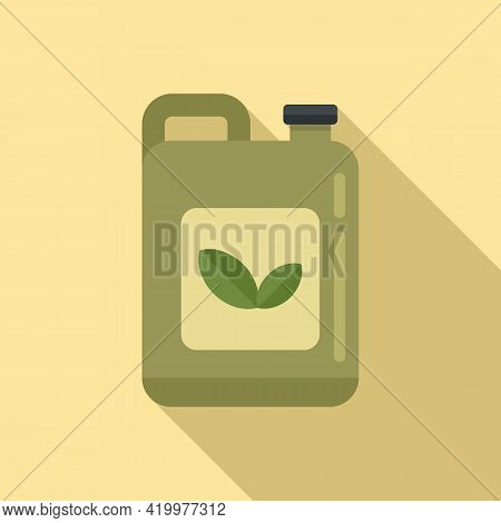 Pesticide Canister Icon. Flat Illustration Of Pesticide Canister Vector Icon For Web Design