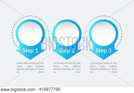 Professional Economical Vector Infographic Template. Blue Gradient Presentation Design Elements With