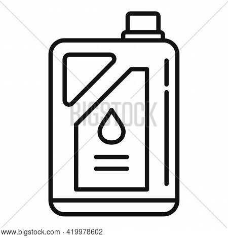 Chemical Fertilizer Canister Icon. Outline Chemical Fertilizer Canister Vector Icon For Web Design I