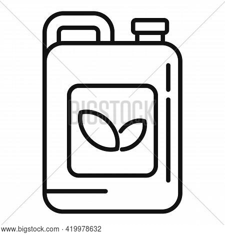 Pesticide Canister Icon. Outline Pesticide Canister Vector Icon For Web Design Isolated On White Bac
