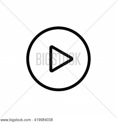 Play Icon Isolated On White Background. Play Icon In Trendy Design Style For Web Site And Mobile App