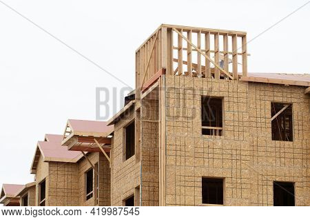 Walls And Rafters Of A Plywood House