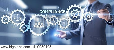 Compliance Rules Regulation Business Policy Law Concept