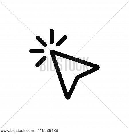Cursor Icon Isolated On White Background. Cursor Icon In Trendy Design Style For Web Site And Mobile