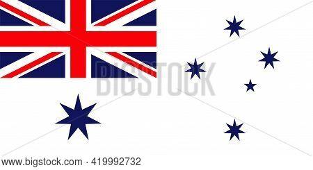 Royal Australian Navy Flag Vector Isolated On Transparent Background. The Royal Australian Navy Flag