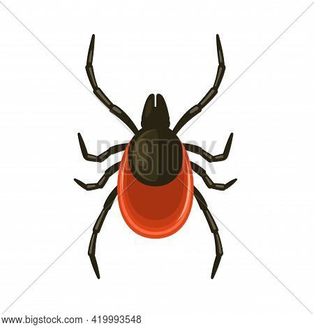 Tick Icon On White Background. Flat Style Bug Vector