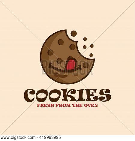 Cookies Design Logo Vector. Cookies Fresh From The Oven