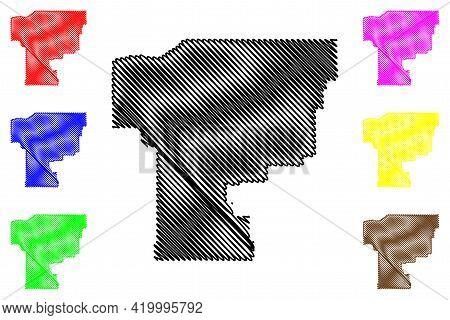 Umatilla County, Oregon State (u.s. County, United States Of America, Usa, U.s., Us) Map Vector Illu