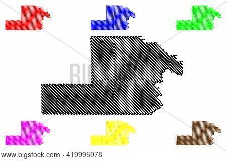Yamhill County, Oregon State (u.s. County, United States Of America, Usa, U.s., Us) Map Vector Illus