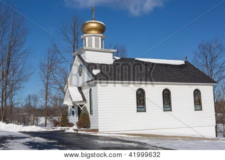 A Small Country Russian Orthodox Church