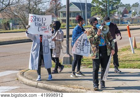 New Orleans, La - January 9: Demonstrators Call For Boycott Of Rouse's Grocery Chain After Owner Att