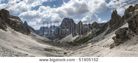 Dolomiti Vajolet Valley Panorama