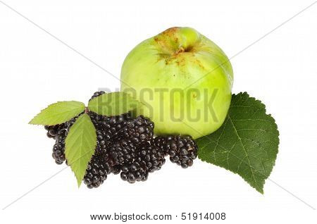 Blackberries And Apple