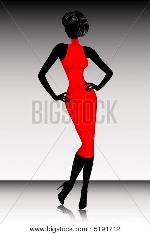 Silhouette Beautiful Woman