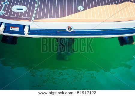 Sailboat Stern With Engine, Sailing, Yachting